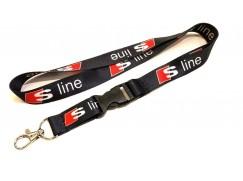 Audi klíčenka S-Line (látka, barva černá)