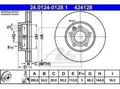 Brzdový kotouč zadní 7D0615301C