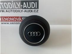 Airbag 2rychlostní Audi pošitý kůží (černá kůže, červená nit)